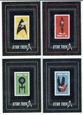 Star Trek 50th Anniversary Commemorative Stamp 4 Card Set S1 - S4 (1:576 Packs)