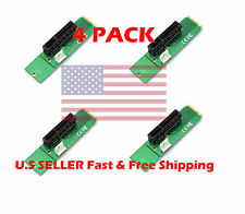 (4PACK) PCI-e 1X/4X Card to NGFF M.2 M Key PCIe Slot Converter Adapter