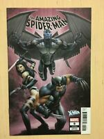 THE AMAZING SPIDER-MAN 9 LGY 810 variant X-Men cover Marvel comic book
