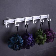 Metal Wall Mounted Hook Rack Rail Plated Hook Coat Hook Keys Hanger 6-hook