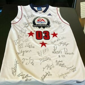 Lebron James Pre Rookie 2003 All American Team Signed Authentic Jersey PSA DNA
