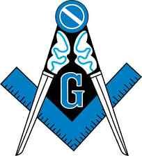 """Masonic Square and Compass Bumper Sticker 5"""" x 5"""""""