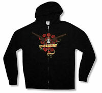 GUNS N ROSES BOUQUET BANNER BLACK ZIP UP HOODIE SWEATSHIRT NEW OFFICIAL GNR