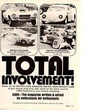 1972 MOTION RACING TEAM CARS - THUNDERBUG / 454 CAMARO ~ VERY RARE ORIGINAL AD