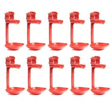 Chicken Duck Hen Screw In Poultry Water Drinker Cups 10pcs