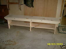 6' LONG WOODEN BENCH COUNTRY STYLE VERY NICE