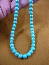 """bead beaded Necklace fashion Jewelry (v326-21-18) 18"""" long Chinese turquoise"""