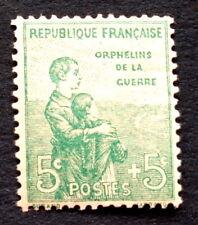 timbre france, n°149, 5c+5c orphelin, TBC, neuf **tres frais, cote 75e