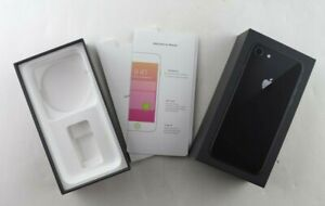 Apple A1863 iPhone 8 Space Gray 256GB Genuine EMPTY RETAIL BOX ONLY w/Inserts