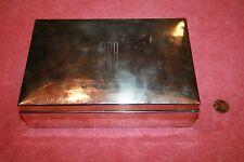 Marked H 1845 Hand Hammered Sterling Cigar Box engraved JRA