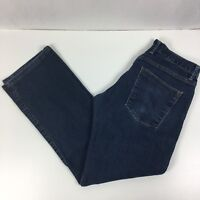 Agave Women's Straight Leg Jeans Blue Denim Size 32 Made in USA 29x30 measured