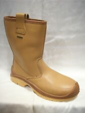 SIZE 8 U POWER ARROW WATERPROOF GORTEX JALLATTE LEATHER SAFETY CAP RIGGER BOOTS