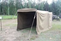MILITARY SURPLUS TENT COMMAND POST Army Garage connecting tunnel