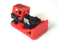 MICRO MACHINES CONSTRUCTION BULLDOZER GALOOB VTG 1987 TOY WORK VEHICLE RED HTF