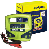 12 Volt 4 Amp Heavy Duty Car Van Bike Battery Charger up to 1.2L LED Compact