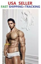 Worldbox AT027 1/6 scale Ripped Strong Man Male Figure w/ head Chris Redfield