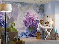 Wall Mural Photo Wallpaper OTAKSA BLUE PURPLE FLOWERS LIving Room Decor 368x254