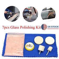 7pcs Car Glass Windscreen Scratch Remover Polishing Tool Kit w/70g Cerium Oxide