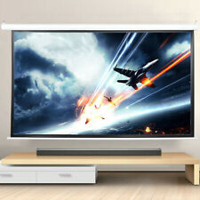 New listing 100In 3D Hd Projector Screen Wall Ceiling Electric Motorized w/Remote Control Us