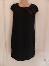H&M UK size 10 black dress with cap sleeves and bow