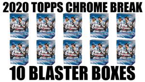 ATLANTA BRAVES TOPPS CHROME BOX BREAK #74 ⚾ 10 BLASTER BOXES ⚾