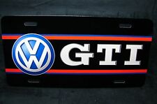 VOLKSWAGEN VW GTI LICENSE PLATE TAG FOR CARS AND SUV'S METAL ALUMINUM