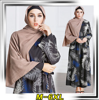 Women Muslim Abaya Kaftan Islamic Robe Jilbab Cocktail  Long Maxi Dress Gown
