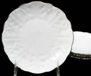 Aynsley SPRING CROCUS 4 Bread & Butter Plates Bone China GREAT CONDITION
