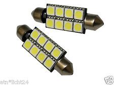 SMD Soffitte mit 8 LED Innenraumbeleuchtung 12V 10W 42mm 44mm Chip C5W C10W Weiß