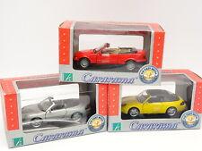 Cararama 1/43 - Lot de 3 : Porsche 911 - 911 Cabriolet - BMW Serie 3 E36 Cabrio