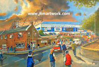 Starks Park Stadium GTM  Fine Art A4 Print - Raith Rovers Football Club