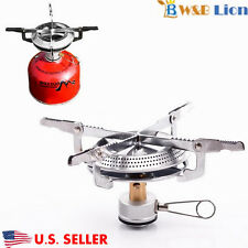 Portable Camping  Hiking Gas Stove BBQ Burner Cookware Outdoor  with Case  U.S.