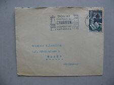 FRANCE, cover to the Netherlands 1956, slogancanc. mining coal, energy