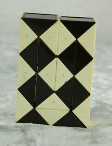 Vintage 1980's  Black and White Rubik's Snake Puzzle / Creative Art Toy