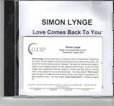 (FT591) Simon Lynge, Love Comes Back To You - 2010 DJ CD