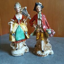 Antique Porcelain statue of Man and Woman