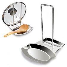 Pan Pot Lid Spoon Rest Stand Holder Shelf Kitchen Cooking Utensil Organizer Rack