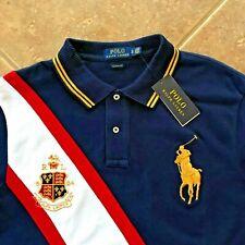 Polo Ralph Lauren Polo Mesh Shirt Mens XLT Navy Big Pony & Crest Classic NWT