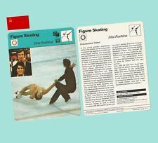 1979 Sportscaster Usa Rencontre Card Rodnina Zaitsev World Champion Skaters - Mt