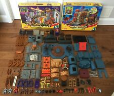 LOT of 2 Fisher Price IMAGINEXT BATTLE CASTLE / DRAGOMONT FORTRESS - INCOMPLETE