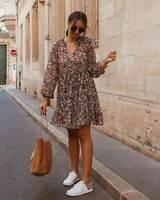 ZARA WOMAN NWT SALE! FLORAL PRINT DRESS SIZE M REF: 8514/161