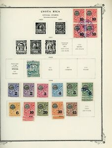 COSTA RICA Scott Specialty Album Page Lot #41 - SEE SCAN - $$$