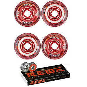 Revision Wheels Inline Roller Hockey Flex Soft 76A With Bones Bearings (4-Pack)