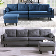 Reversible Sectional Sofa for Living Room Muti-functional L-Shape 4 Seat Couch