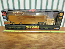 John Deere 24K Gold Plated Transporter & Stock Car By Racing Champions