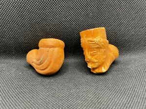 pipa antica terracotta lotto 2 pz