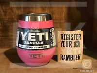 New YETI Limited Edition Harbor Pink 10 oz Wine Tumbler *Discontinued*