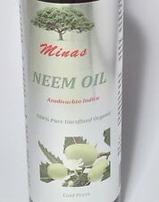 NEEM OIL UNREFINED 12 Oz. ORGANIC CARRIER COLD PRESSED VIRGIN RAW PURE  NATURAL