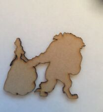 5 x Beauty and the Beast laser cut 3mm thick mdf craft shape blank