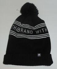 Adidas Youth Bantam Graphic Ballie Knit Hat Boys Black White New Three Stripes